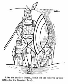 Joshua Bible Story Coloring Page Joshua was called upon to lead the hebrews after the death of Moses.