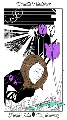 Drusilla Blackthorn - Purple Tulip (Daydreaming): Cassandra Jean: Shadowhunter Flowers Series: *Character belongs to Author Cassandra Clare and her Dark Artifices series Cassandra Jean, Cassandra Clare Books, Clary Et Jace, Lord Of Shadows, Cassie Clare, Jace Wayland, Isabelle Lightwood, Shadowhunters The Mortal Instruments, Purple Tulips