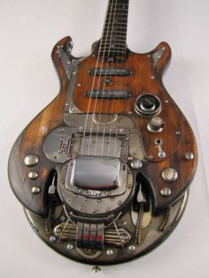 Shondracaster electric guitar steampunk Picture