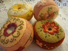 four pincushions