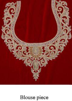 Maroon velvet lehenga adorn in zardosi and pearl embroidery only on Kalki