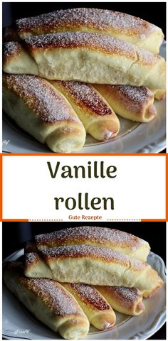 Vanille rollen You are in the right place about sweets Desserts Here we offer you the most Baking Recipes, Cake Recipes, Dessert Recipes, Sem Lactose, Food Cakes, Healthy Foods To Eat, Finger Food, Easy Meals, Brunch