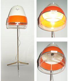 Lamp reincarnated sixties hair dryer by MoreOrLessDesign on Etsy