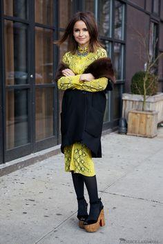 Mira Duma in New York Fashion Week wearing: Louboutin shoes (shop here and here), Derek Lam coat, Chloe dress, Iosselliani necklace. Miroslava Duma, Fashion Week, New York Fashion, Winter Fashion, Womens Fashion, Tokyo Fashion, Latest Fashion, Girl Fashion, Fashion Trends