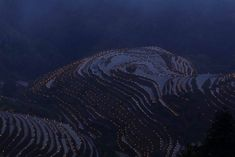Thousands of torches are placed in terraced fields by villagers during a local festival praying for good harvest at Guilin, Guangxi Zhuang Autonomous Region, China June (Photo by Reuters/Stringer) Local Festivals, Female Knight, Pop Culture News, Guilin, Futuristic Design, Photos Of The Week, Us Images, Heart Images, Virtual Tour