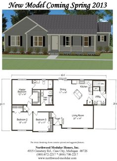 Our new model is in and looks fabulous! #ranch #threebedrooms Go to our website to see all the inside pictures under the tab model center.
