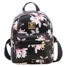 6cfbc5df5e Women s Backpack Hot Sale Fashion Causal Floral Printing Backpacks PU  Leather Backpack For Teenagers Girls Mochilas MujerBolas