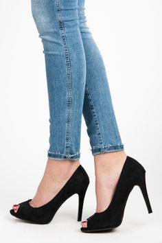 Black open toe pins Beautiful heels made of high quality eco-friendly suede. Beautifully presented on the foot, the open front adds to their lightness and charm. You will be gorgeous and elegant in every situation. https://www.cosmopolitus.com/cernE-lodicky-open-ll20b-p-246327.html?language=en&pID=246327 #Womens #suede #black #black #fronts #fashion #trendy #cheap