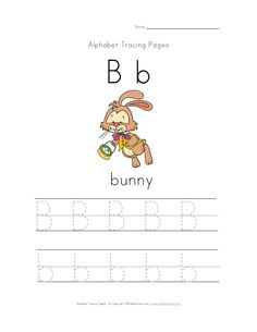 easter letter b id for bunny worksheet