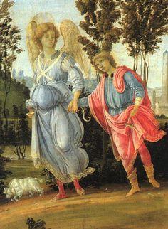 '`tobias` et le ange' de Paolo Uccello (1397-1475, Italy)