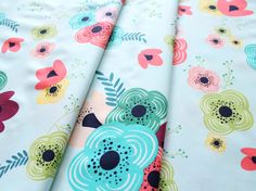 Art Gallery Fabrics Happy Home Table Flowers Rainbow