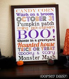 Free!! Printable subway art! Used this for Halloween this year. Looked awesome on the wall.