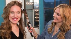 """VIDEO -> Become your own pro hair stylist - - Sarah Potempa Beachwaver S1 - """"You can use this curling iron to create three different types of waves: beach waves, defined curls, or vintage curls. And combined with the wrap up and half up, there's no style you won't be able to get at home!"""" via Joyous ♥"""
