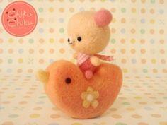 Super kawaii bear riding a duck. Chicku chiku.