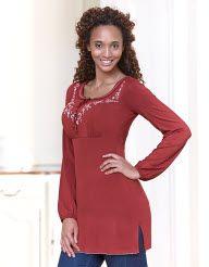 Ethnic Embellished Jersey Tunic