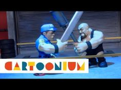 John Cena and The Big Show have a showdown in the greasy lube on WWE Slam City!
