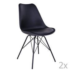 Køb House Nordic Oslo Spisebordsstol - i sort med sorte ben - pris & tilbud her! Side Chairs, Dining Chairs, Eames, Wood Species, Oslo, Modern Chairs, Kobe, Upholstery, Furniture