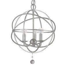 """Olde Silver Chandelier by Candelabra Home, part of the new Solaris collection. Available in Small, Medium, Large & X-Large.    Small/Medium Chain: 8""""Rod,72""""chain""""/120""""  Large Chain: 15""""Rod,72""""chain""""/120""""  X-Large Chain: 15""""Rod,120""""chain""""/144"""""""