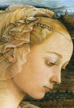 Fra Filippo Lippi, detail of Madonna col Bambino e Angeli, c. 1465, Tempera on panel, Uffizi Gallery, Florence,