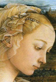 Fra Filippo Lippi, detail of Madonna col Bambino e Angeli, c. 1465, Tempera on panel, Uffizi Gallery, Florence,