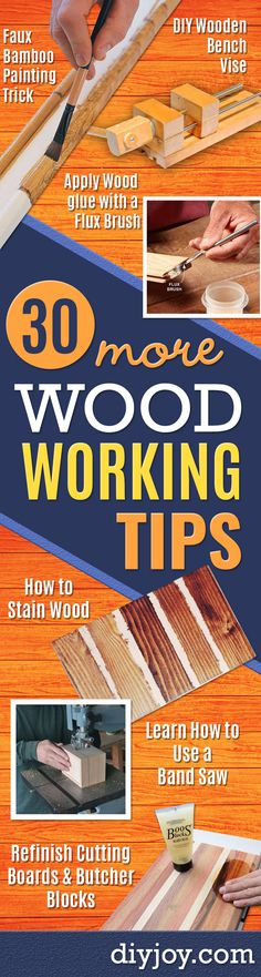 Cool Woodworking Tips - Easy Woodworking Ideas, Woodworking Tips and Tricks, Woodworking Tips For Beginners, Basic Guide For Woodworking - Refinishing Wood, Sanding and Staining, Cleaning Wood and Upcycling Pallets - Tips for Wooden Craft Projects http://diyjoy.com/diy-woodworking-ideas