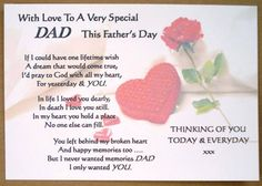 fathers in heaven poems | fathers day poems from daughter, fathers day poems, father daughter ...