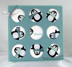 Cute pic, love the multiple circles, nice idea. Peeking Penguins by kendra - Cards and Paper Crafts at Splitcoaststampers