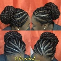 Highlights hair trend at goddess braids hairstyles. Goddess braids hairstyles as for pink hair types. Goddess braids hairstyles according to terrific hair extension. Cornrows Updo, Braided Hairstyles Updo, Cornrow Braid Styles, Ghana Braids Hairstyles, Ghana Braids Updo, Goddess Braids Updo, Plaits, Hairdos, Natural Hair Braids