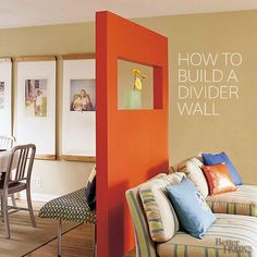 Remodelaholic | 29 Creative DIY Room Dividers For Open Space Plans