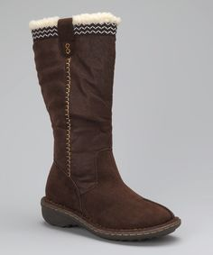 Take a look at this Dark Brown Tall Camper Boot on zulily today!