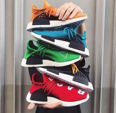 "Adidas Pharrell Williams NMD ""Hu"" 29/09/2016 colourways."
