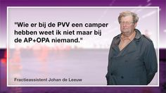 OPA Almere fractieassistent Johan de Leeuw laat zich betrappen op een leugen. Zie drie videofragmenten en deze fraaie foto op Omroep Flevoland. http://www.omroepflevoland.nl/Nieuws/113720/almere-raadslid-almere-partij-verzweeg-eigen-belang