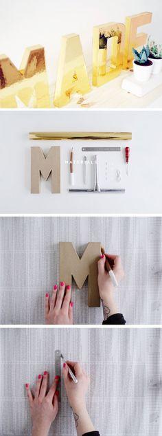 DIY Solid Gold Letters http://fallfordiy.com/blog/2015/05/26/diy-solid-gold-letters/