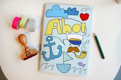 Notizheft Ahoi von Tante Tin auf DaWanda.com