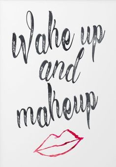 Wake up and make up.