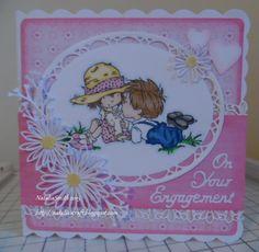 Engagement card LOTV stamp