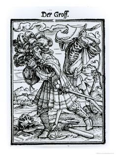Hans Holbein the Younger. Death and the Count, from The Dance of Death, c.1538