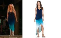 Tamra Judge's Blue Ombre Maxi Dress in Tahiti on the Real Housewives of Orange County Season 10 http://www.bigblondehair.com/real-housewives/rhoc/tamra-judges-blue-ombre-maxi-dress-in-tahiti/