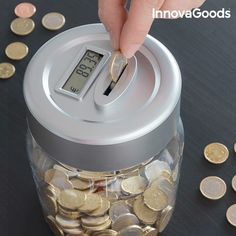 InnovaGoods Electronic Digital Money Box, Saving will never be the same with the practical and original InnovaGoods Gadget Tech electronic Euro Coins, Coin Display, Cake Decorating Techniques, Money Box, Tech Gadgets, Piggy Bank, Gifts For Kids, Cool Things To Buy, Bulgaria