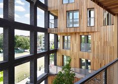Engineered timber products such as cross-laminated timber must be exempt from the UK government's ban on combustible cladding materials, as they are essential in the global battle against climate change, say architects. Government Architecture, Timber Architecture, Timber Buildings, Architecture Office, Modern Buildings, Contemporary Architecture, Architecture Design, Cladding Materials, Timber Cladding