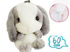 Lolita Cute Rabbit Plush Backpack Grey