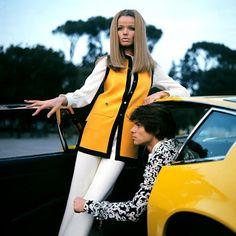 Retro Vintage Mod Style: Veruschka & Hiram Keller: Rome 1969