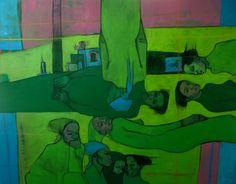"""Lucía Méndez Rivas """"Espiritual"""" 107 cm X 127 cm Oil and charcoal on canvas -  available"""