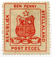 Postage stamps and postal history of Stellaland Republic: postage stamp depicting the coat of arms February