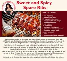Make this for dinner tonight - my Sweet and Spicy Spare Ribs. More great in The Lucky Santangelo Cookbook. Spare Ribs, Balsamic Vinegar, Vintage Recipes, Sweet And Spicy, Dinner Tonight, Ketchup, Delish, Dinner Recipes, Beef