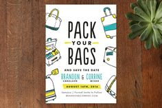 Pack Your Bags Save the Date Cards by Pistols at minted.com