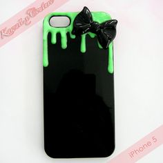 MADE TO ORDER Glowing Green Decoden iPhone 4 4S 5 Phone Case via Etsy