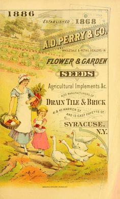 1886 - A. D. Perry & Co. wholesale & retail dealers in flower & garden seeds, agricultural implements &c. : - Biodiversity Heritage Library