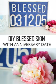 DIY blessed sign. Wh