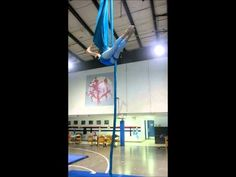 Aerial Silks Practice: Twirly Bird to Sailboat to Cross Catcher's Split - YouTube
